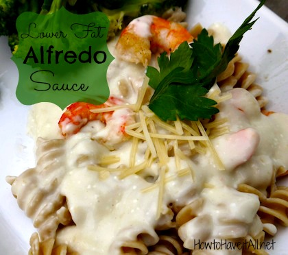 lower fat alfredo sauce