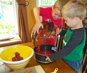 Boys Helping With Jam