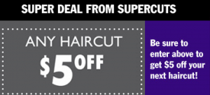 Get $5 off with this new printable Supercuts coupon. This is a great way to get your cut for less thanks to the latest Supercuts offers available.