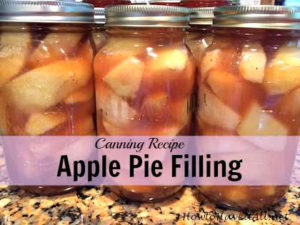 apple pie filling canning