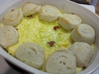 Egg Lit'l Smokie and Biscuit Bake