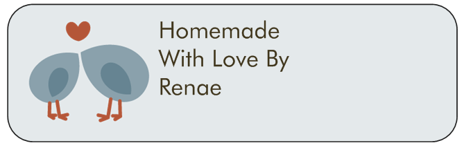 Homemade with love label