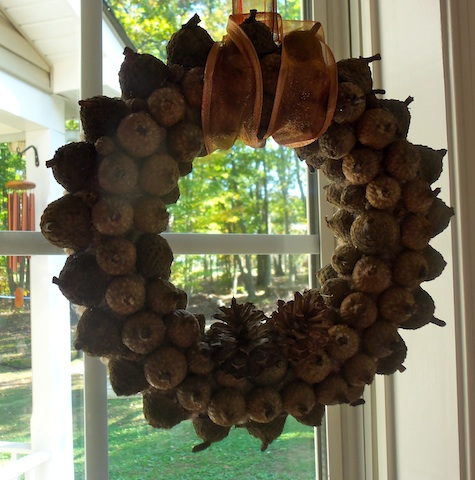 Acorn Wreath Closeup