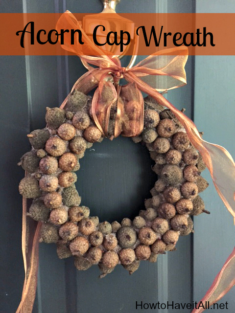 acorn cap wreath