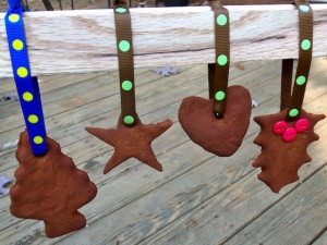 applesauce cinnamon ornaments