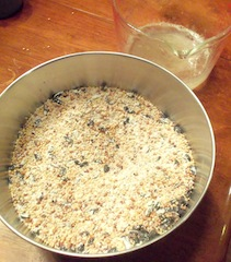 birdseed flour mixture