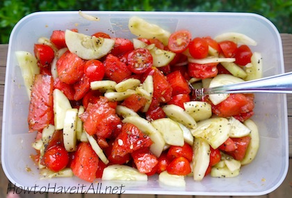 watermelon cucumber tomato salad