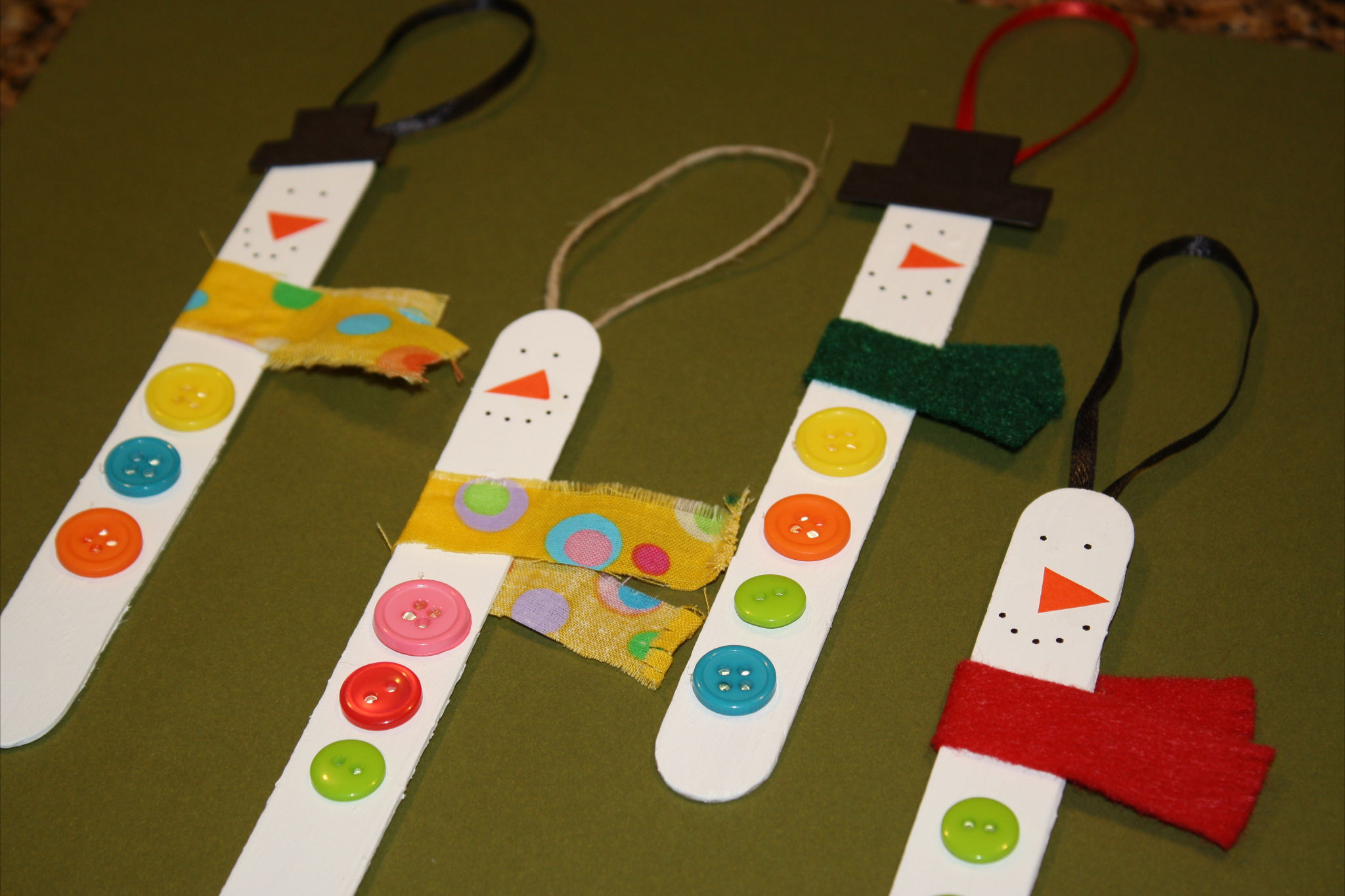 Lollipop Stick Christmas Decorations.Easy Craft Popsicle Stick Snowman Ornaments How To Have