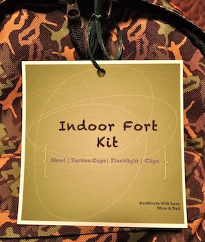 fort kit label