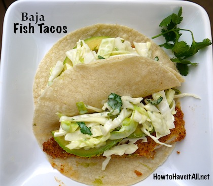 Baja Fish Taco Recipe + McCormick Taco Night Challenge | How to Have ...
