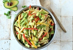 Avocado Dijon Pasta Salad