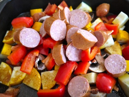 Marinate Veggies Sausage