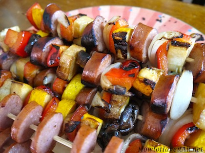 Sausage Vegetable Kabobs