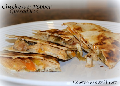 Chicken Pepper Quesadillas