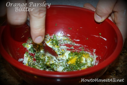 Orange Pasley Compound Butter