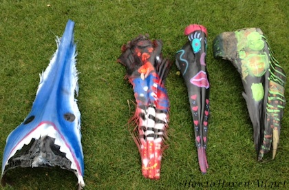 Painted Palm Tree Masks