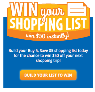 Build your shopping list