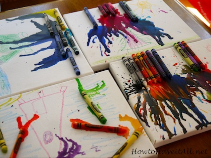 Kids Melted Crayon Art