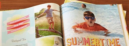 use coupon code SUMMERBOOK to score a free 8×8 book from Shutterfly