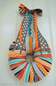 mason-jar-washi-tape-halloween-wreath