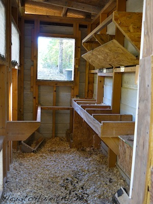 On The Inside Of The Coop We Have Nesting Boxes And A Roosting Bar. We