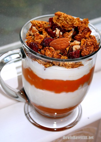 Pumpkin Yogurt Parfait