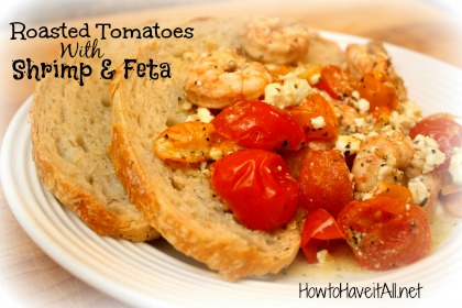 Roasted Tomatoes with Shrimp