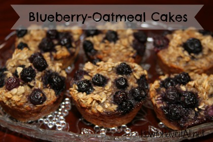 Breakfast Blueberry-Oatmeal Cakes | How to Have it All