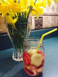 water infused with fruit and veggies