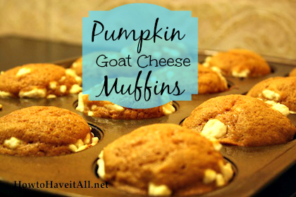 Pumpkin goat cheese muffin