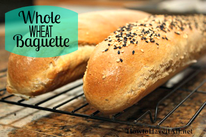 whole wheat baguette bread
