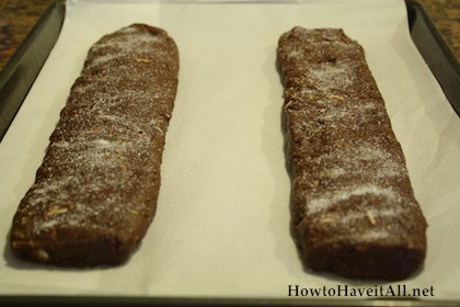 chocolate biscotti loaves