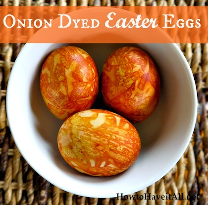 Onion dyed eggs