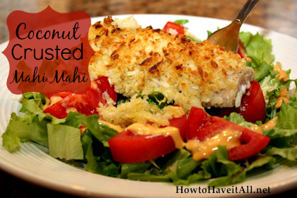 coconut crusted mahi mahi
