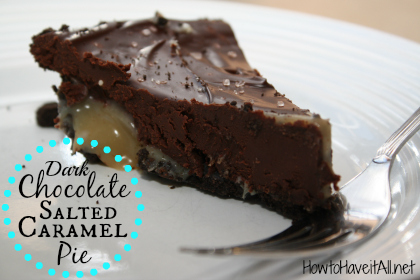 dark chocolate caramel pie