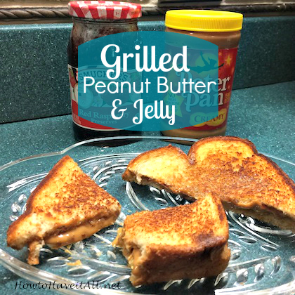 grilled peanut butter jelly sandwich