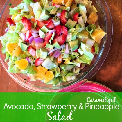 avocado strawberry pineapple salad
