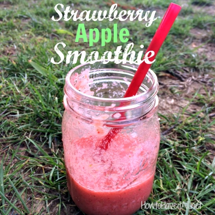 srawberry apple smoothie