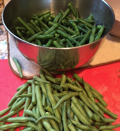 blanched beans