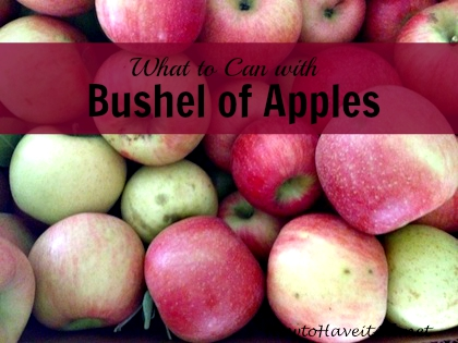 bushel apples