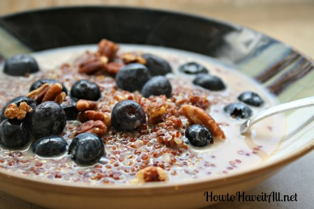 Enjoy the quinoa porridge with blueberries or your favorite fruit. Add ...